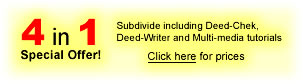 Subdivide and Deed-Chek bundle